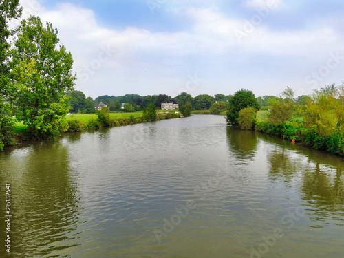 Foto op Plexiglas Rivier Leie River