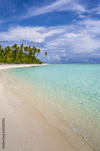 Keuken foto achterwand Tropical strand Cook Islands, Aitutaki Atoll, Tropical island and beach