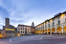 Italy. Tuscany. Arezzo District. Val Di Chiana Arezzo. Piazza Grande.