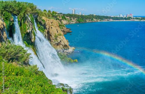 Observe the Lower Duden Waterfall, Antalya, Turkey