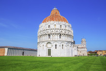 Baptistery, Cathedral And Lean...