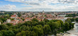 View of the city of Vilnius from Gediminas tower. Lithuania
