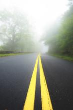 A Foggy View Along The Blue Ri...