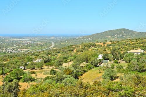 Foto op Plexiglas Pool Rural Landscape in Algarve, Portugal: Serra de Monte Figo