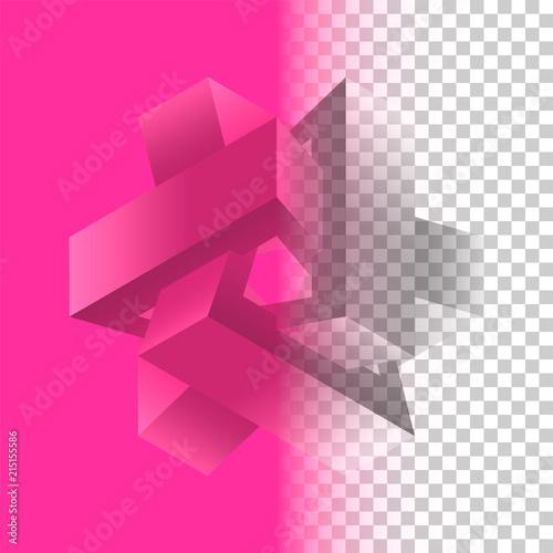 Fotografie, Obraz  Volume geometric shape with metallic luster