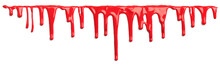 Red Blood Like Paint Dripping ...