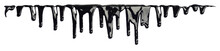 Black Ink Paint Dripping Isola...