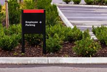 Employee Parking Sign In A Par...