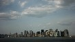 Timelapse tilt down of Manhattan Island New York
