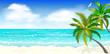 Tropical beach, palm trees 1