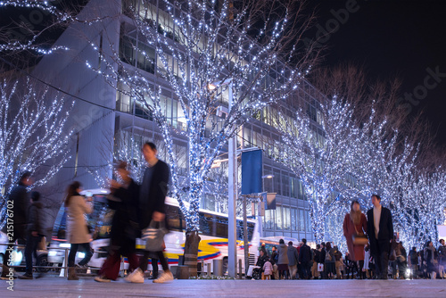 Winter illumination at Roppongi Keyakizaka Street in Tokyo 六本木けやき坂イルミネーション