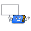 Bring board memory card character cartoon