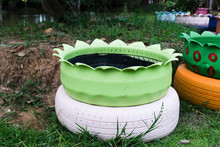 Colored Green Planters Made Fr...