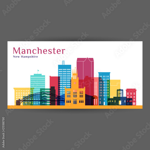 Manchester city architecture silhouette Canvas Print
