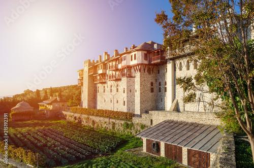 Fotografie, Obraz  Monastery of Xeropotamos on Holy mountain Athos