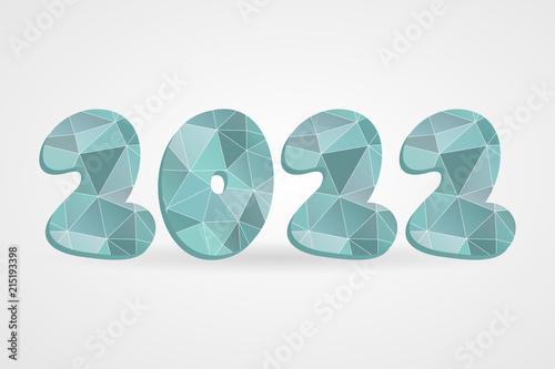 Poster  2022 polygonal vector symbol