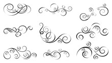 Design Curls And Scrolls Set. ...