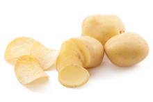 Crispy Chips And Raw Potato On...