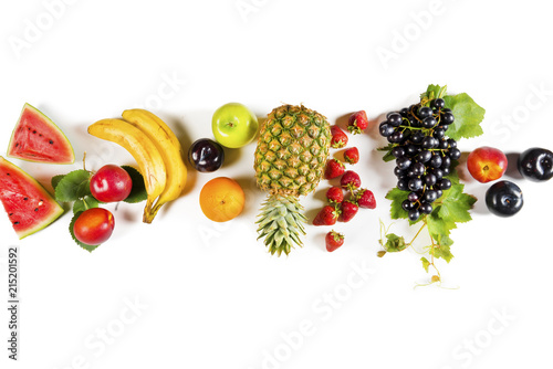 Obrazy owoce assorted-fruits-on-isolated-background