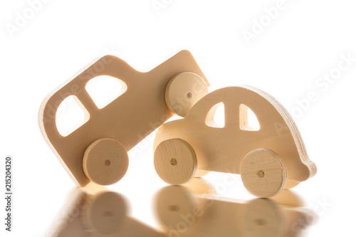 Fotografía  木製自動車のオモチャ