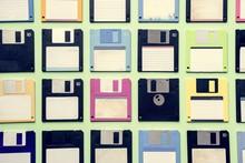 Old School Floppy Disk Drive Data Storage