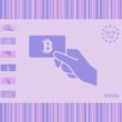 Bitcoin card vector icon