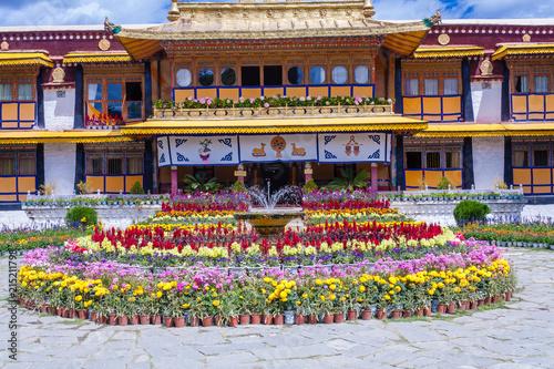 Cuadros en Lienzo Norbulingka Dalai Lama summer palace, Lhasa