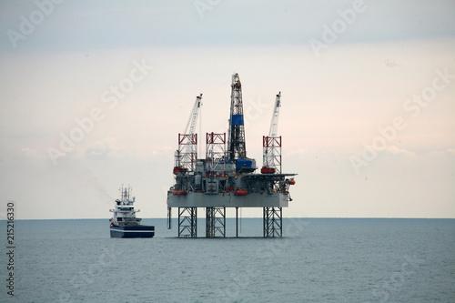 Oil rig atthe North Sea.