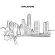 Singapore skyline drawing
