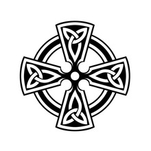 Celtic Cross Symbol On White Background