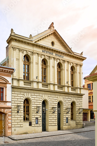 Fotobehang Theater Town theatre in Zatec town. Czech Republic.