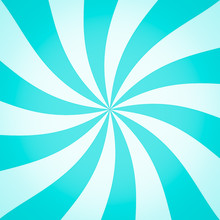 Blue Green Swirl Ray Background Abstract Texture. Illustration.