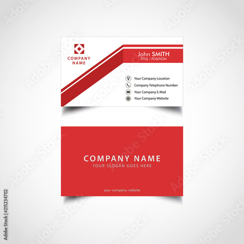 Simple red business card template vector illustration eps file simple red business card template vector illustration eps file flashek Gallery