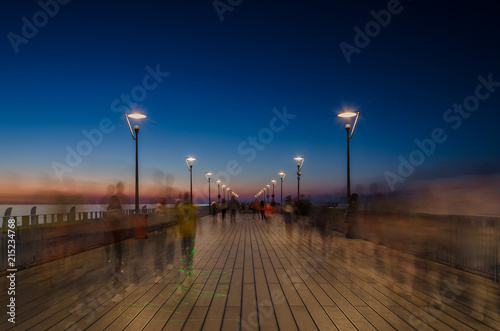 PIER AND SUNSET - Holiday evening walks by the sea