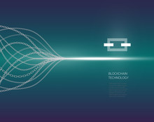 Blockchain Concept, Blockchain Technology. ICO (INITIAL COIN OFFERING) , Crypto Currency Technology.