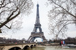 Seine River and the Tour Eiffel at the end of winter