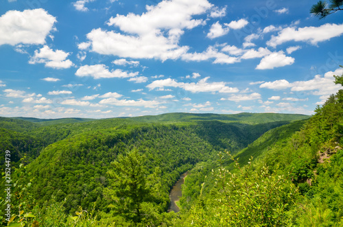 Photo Pine Creek Gorge, also called the Grand Canyon of Pennsylvania