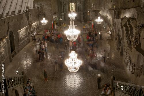 Foto op Plexiglas Historisch geb. The Chapel of Saint Kinga deep inside Wieliczka salt mine, Poland