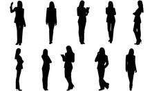 Business Woman Silhouette | Co...