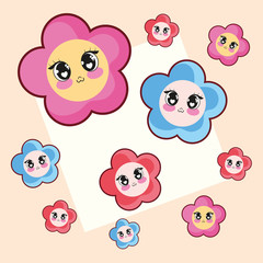 kawaii flowers design