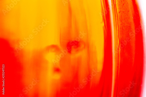 Abstract art graphic picture of red glass bottle