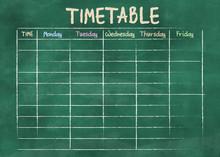 School Timetable Or Class Sche...