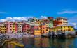 canvas print picture - Plaża Boccadasse w Genui