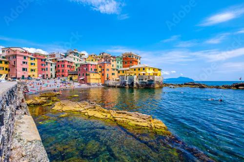 Keuken foto achterwand Liguria Plaża Boccadasse w Genui