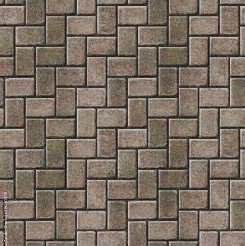 Herringbone pattern paving seamless texture Canvas Print
