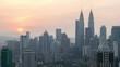 Kuala Lumpur city skyline sunrise timelapse, Malaysia, 4K Time lapse