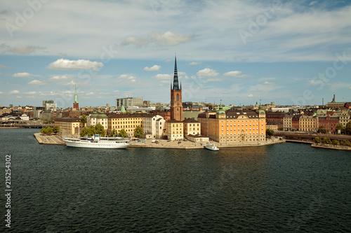 Staande foto Stockholm Stockholm, Sweden - The Old Town (Gamla Stan), view from Monteliusvagen