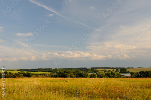 Keuken foto achterwand Weide, Moeras Open spaces / View at the Shatov water storage over the fields, Tula region