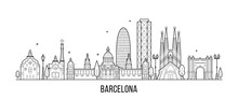 Barcelona Skyline Spain City B...