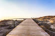 Es Pujols beach in Formentera at dawn Balearic Islands, Spain